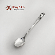 Brocade Infant Feeding Spoon Sterling Silver International 1950