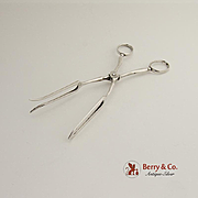 Serving Scissor Tongs Sterling Silver Currier and Roby NY 1940