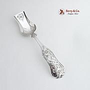 Vintage Sugar Shovel Spoon Openwork Designs 833 Silver