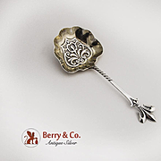 Fleur de Lis Bon Bon Candy or Nut Spoon Sterling Silver 1900