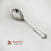 Humbolt Sugar Spoon Sterling Silver Wood and Hughes 1880