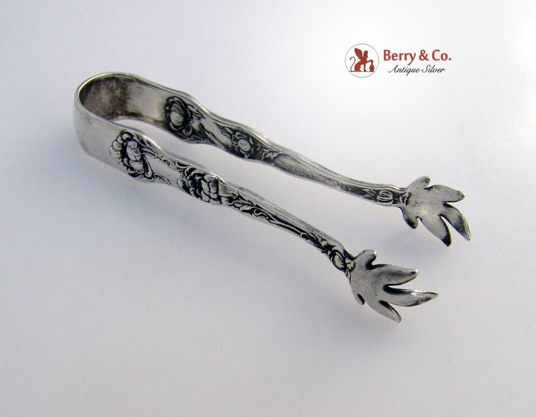 Bon Bon Tongs Peony Wallace 1906 Sterling Silver No Monograms