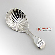 Tea Caddy Spoon Sterling Silver London 1830 William Chawner