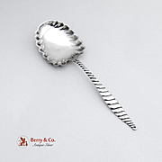 Oval Twist Berry Spoon Sterling Silver Whiting 1880