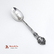 Masonic Souvenir Spoon Sterling Silver 1900