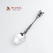 Windmill Coffee Spoon Hanau 800 Silver 1890