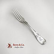 Coin Silver Dinner Fork Leaf Designs R and W Wilson Philada 1860