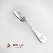 Pastry Fork Coin Silver A H Miller Chicago