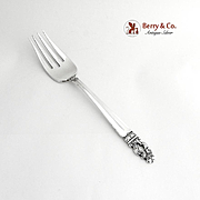 Sovereign or Hispana Cold Meat Fork Sterling Silver Gorham Silver 1968
