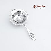 Mount Vernon Tea Strainer Sterling Silver Lunt 1905