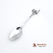 Houses of Parliament London Souvenir Demitasse Spoon Sterling Silver