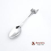 Houses of Parliament London Souvenir Demitasse Spoon Sterling Silver