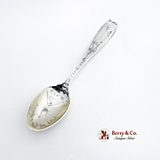 Brooklyn Bridge City of Churches Souvenir Spoon Sterling Silver Gorham