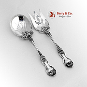 La Reine Salad Serving Set Sterling Silver Wallace 1921
