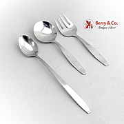 Baby Flatware Set Spoon Fork Infant Feeding Spoon Towle Sterling Silver