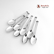 Trianon Set of 8 Teaspoons Sterling Silver International 1921
