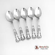 Buttercup Set of 5 Teaspoons Sterling Silver Gorham Silversmiths 1900