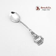 Vintage Athens Demitasse Spoon 800 Silver