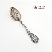Vintage Souvenir Spoon New York Machin and Transportation Bldg Pan Am Exp Buffalo Sterling Silver