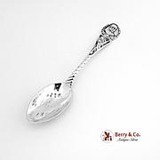 Vintage W Sherman Souvenir Spoon Sterling Silver 1890