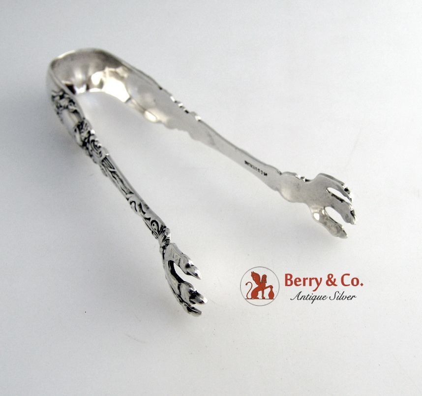 Virginiana Sugar Tongs Gorham 1905 Sterling Silver Monogram N
