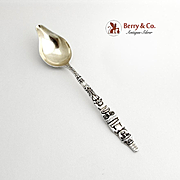 Alaska Souvenir Citrus Spoon Totem Handle Durgin Sterling Silver 1900
