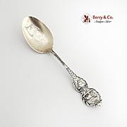Zodiac July Leo Souvenir Spoon Sterling Silver Watson 1900
