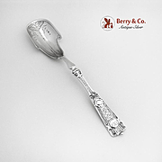 Ribbon Cheese Scoop Sterling Silver Wendt 1875