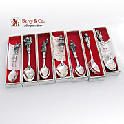 Christmas Spoons Christmas Carol Set of 7 Reed and Barton Silverplate 1984, 1985, 1986, 1987