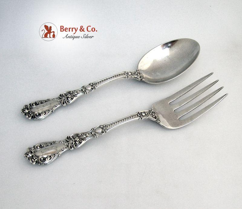Vegetable Serving Set Henry II Gorham Sterling Silver 1902 Monogram B