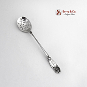 Fleur de Lis Olive Spoon Sterling Silver Alvin 1907