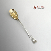 Maryland Olive Spoon Sterling Silver Gorham 1885