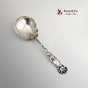 Bridal Rose Berry Spoon Serving Spoon Sterling Silver Alvin 1903