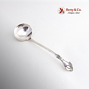 Art Deco Blossom Cream Ladle Webster Sterling Silver 1940