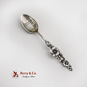 Reed And Barton Floral Harlequin Demitasse Spoon Sterling Silver 1900