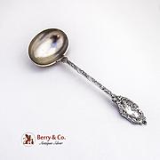 Vintage Cherub Floral Scroll Gravy Ladle German 800 Silver