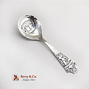 David Andersen Viking Serving Spoon Sterling Silver Norway 1950