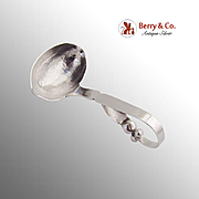 Blossom Gravy Ladle Hammered Bowl Sanborns Sterling Silver Mexico 1950