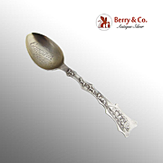 Vintage Sled Dog Mining Souvenir Spoon Mayer Brothers Sterling Silver 1900