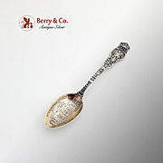 Wendell Ariel Steinmann Institute Souvenir Spoon Engraved Bowl Sterling Silver 1895