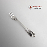 Grande Baroque Cocktail Fork Wallace Sterling Silver