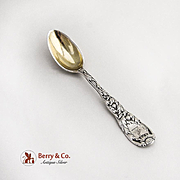 Tiffany And Co Chrysanthemum Demitasse Spoon Gold Wash Sterling Silver