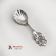 Viking Rose Sugar Spoon Sterling Silver Norway 1950