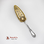 Dominick And Haff Jelly Cake Server Pierced Gilt Blade No 10 Sterling Silver 1898
