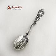 Vintage Los Angeles Souvenir Spoon Sterling Silver 1900