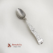 Antique Persian Teaspoon Engraved 900 Silver