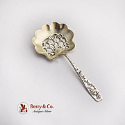 Whiting Berry Pierced Bon Bon Candy Spoon Sterling Silver 1880