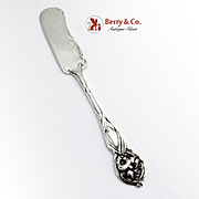 Orchid Butter Spreader Watson Sterling Silver 1903
