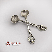 Versailles Master Salt Spoons Pair Gorham Sterling Silver Old Mark