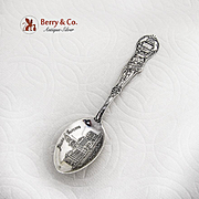 Colorado Souvenir Spoon Denver Embossed Bowl Sterling Silver 1900